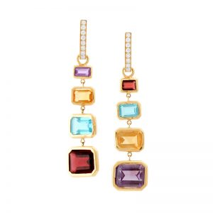 Dangling Colored Earrings
