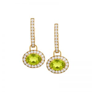 Dangling Peridot Earrings