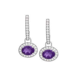 Dangling Amethyst Earrings
