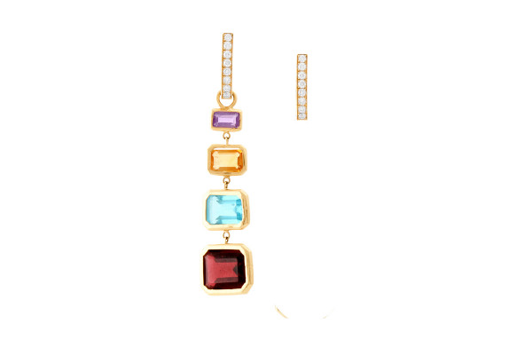 Dangling Colored Earrings