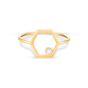 Harmony Hexagone Ring