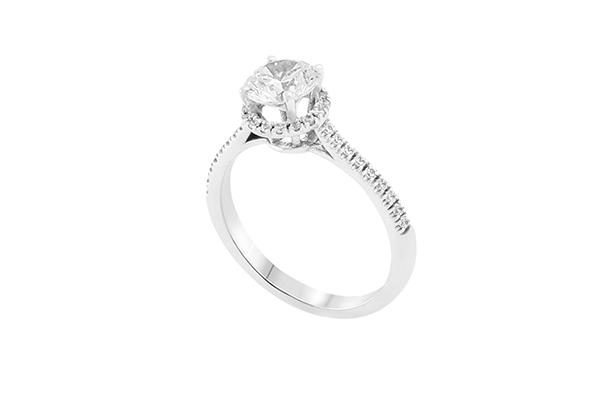 Diamond Halo Engagement
