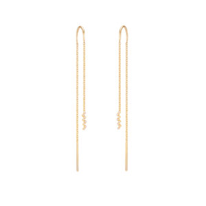 Harmony Chain Earrings (Diamond)