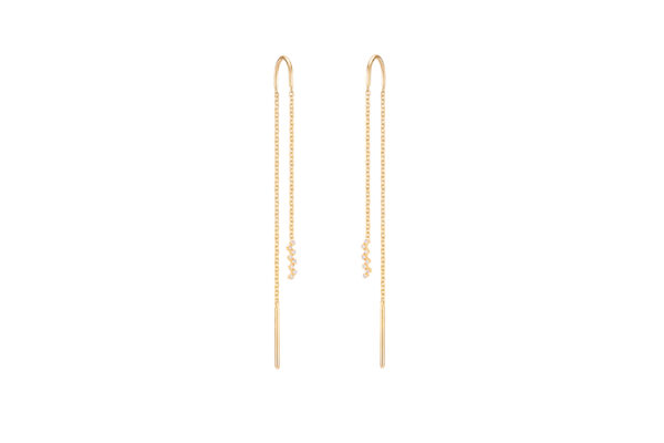 Harmony Chain Earrings (Diamond)